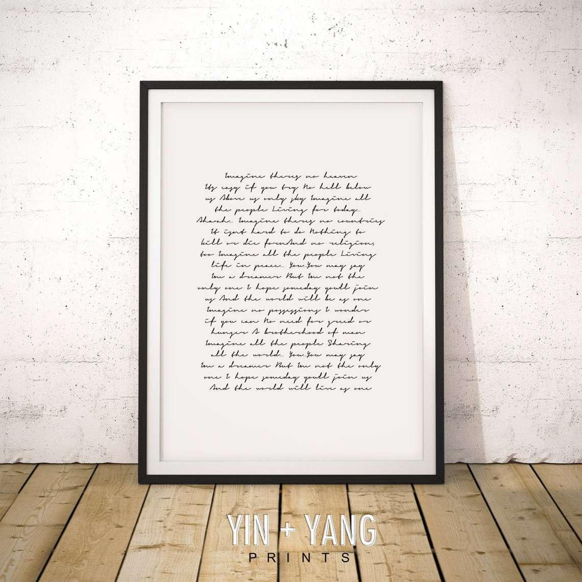 Song Lyrics Wall Art
