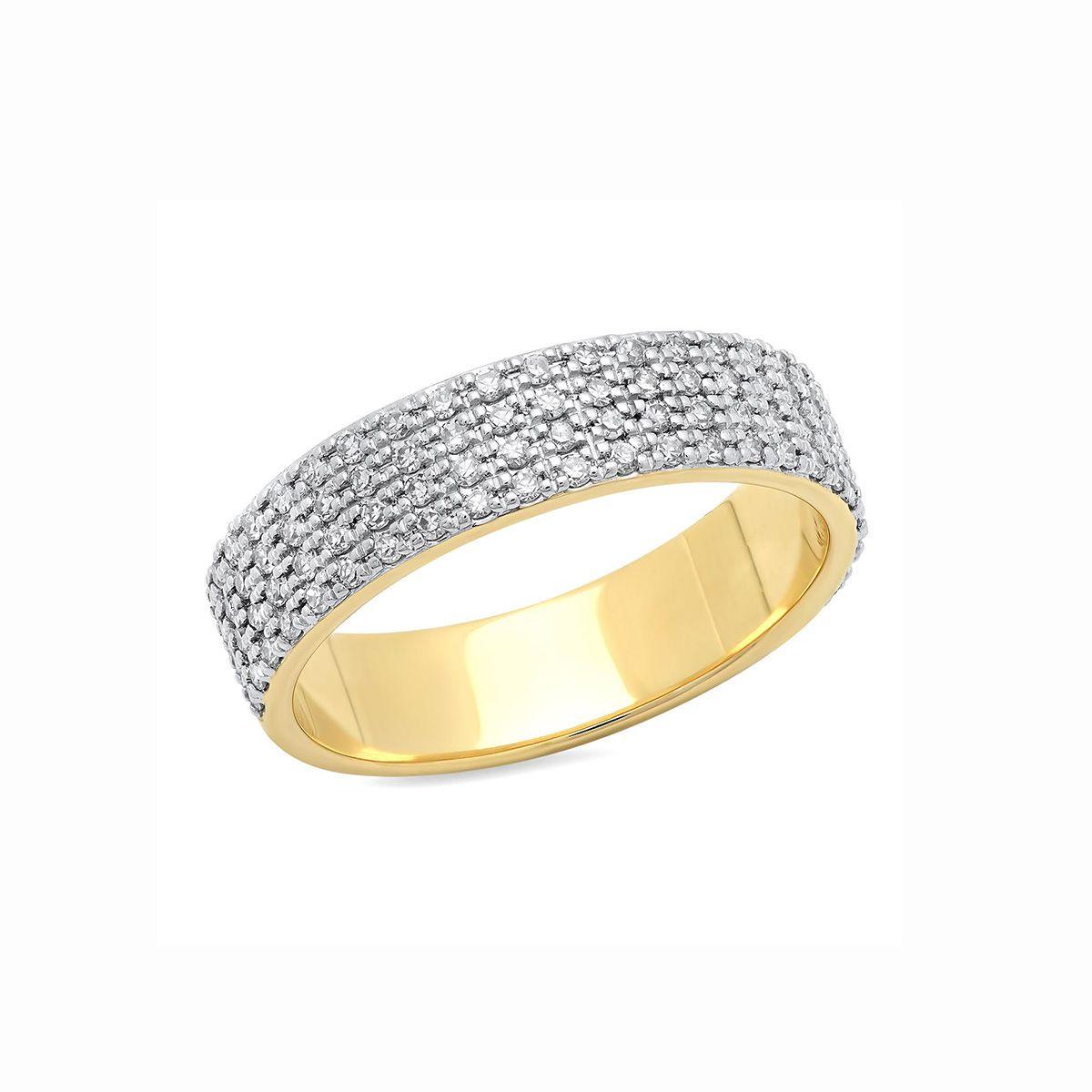Eriness 14K Gold Diamond Cigar Band