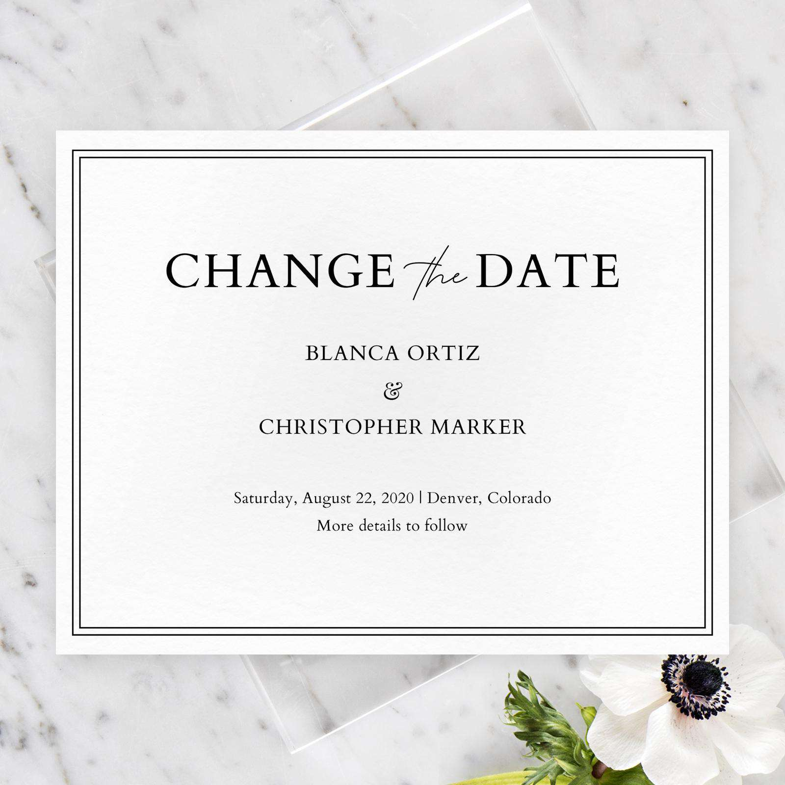 zola change the date