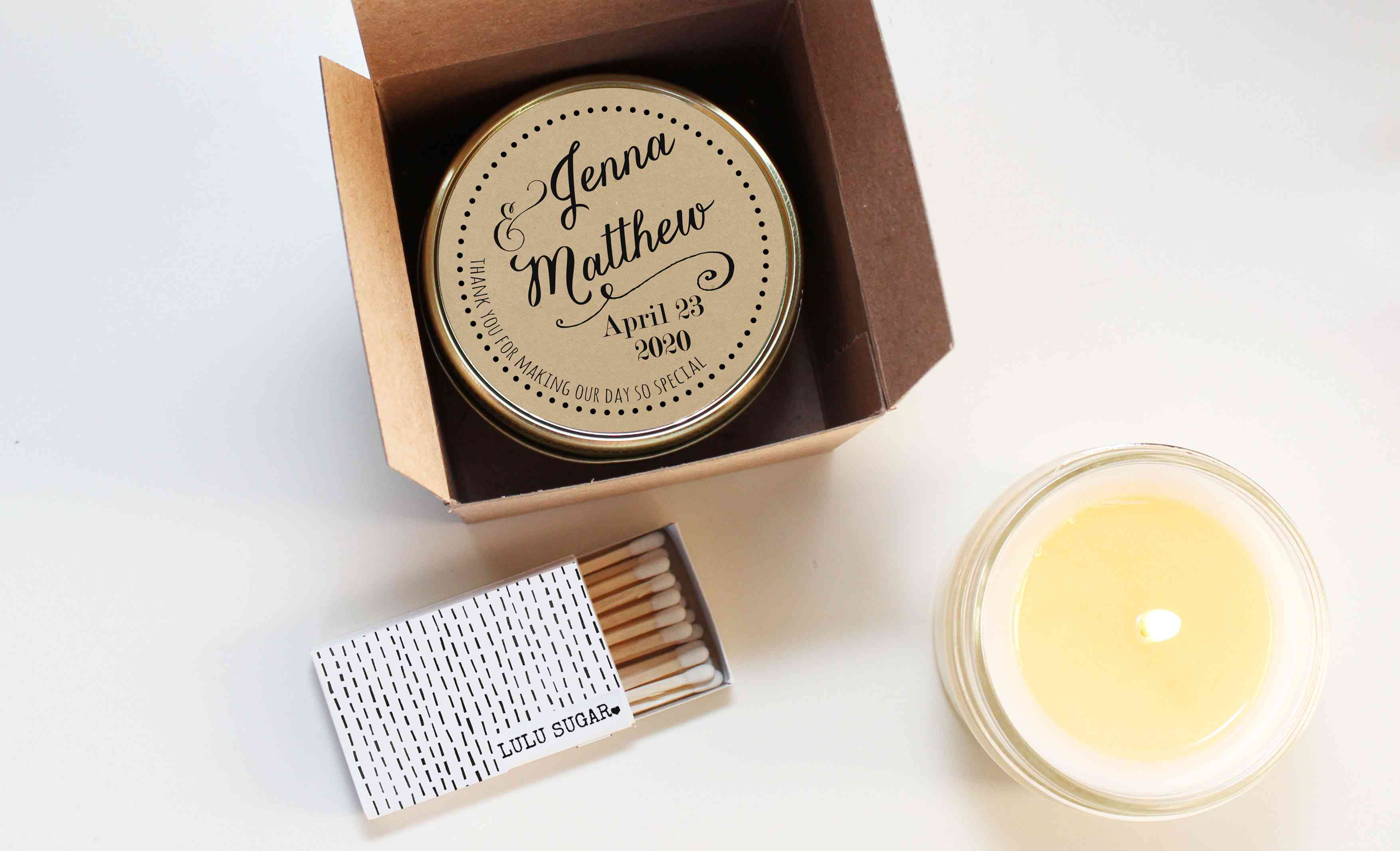 8 Pretty Candle Wedding Favors That Look As Lovely As They Smell