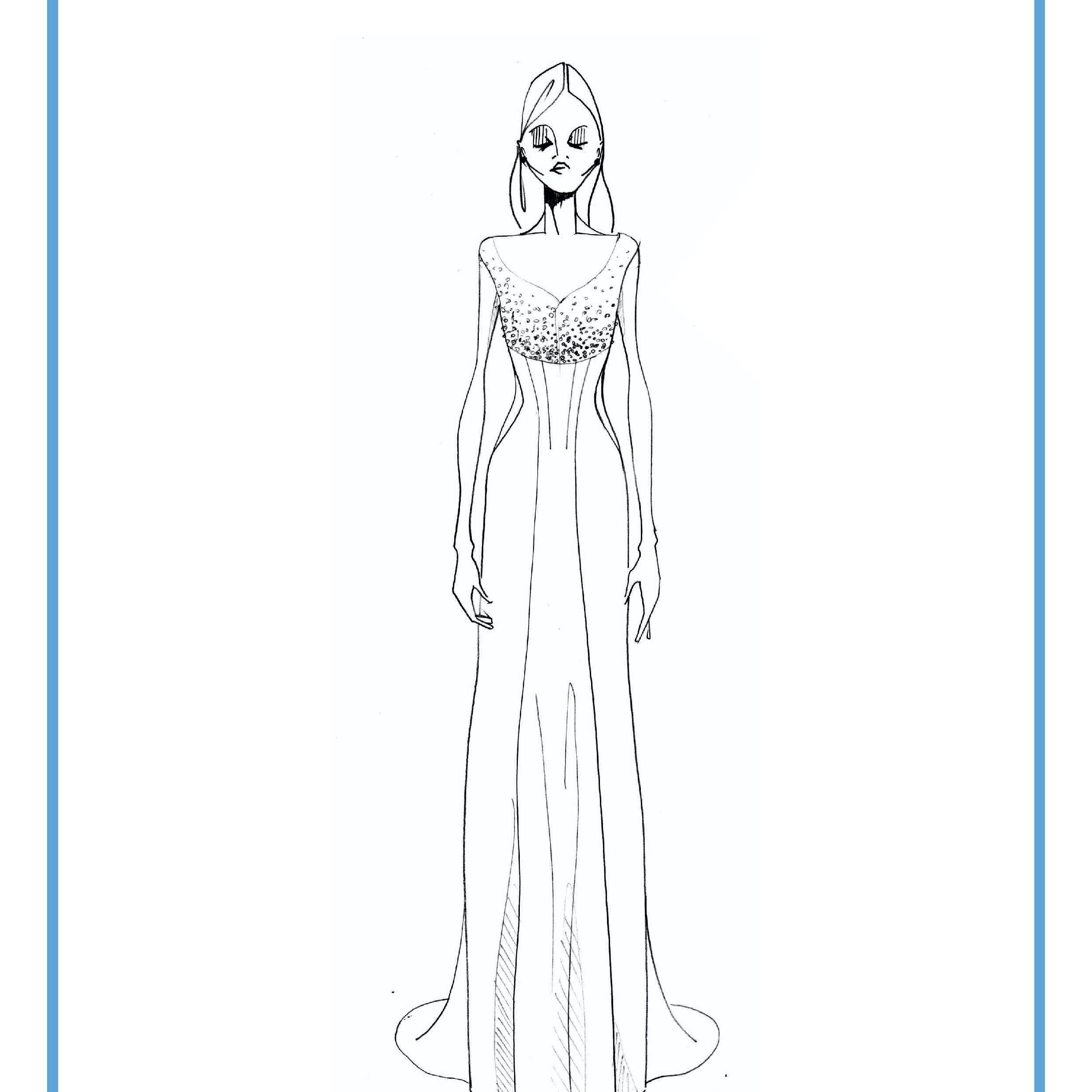 EDEM Bridal Fashion Week Fall 2020 Sketch
