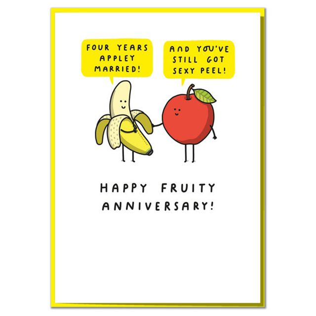 Apply Married Fruit Anniversary Card