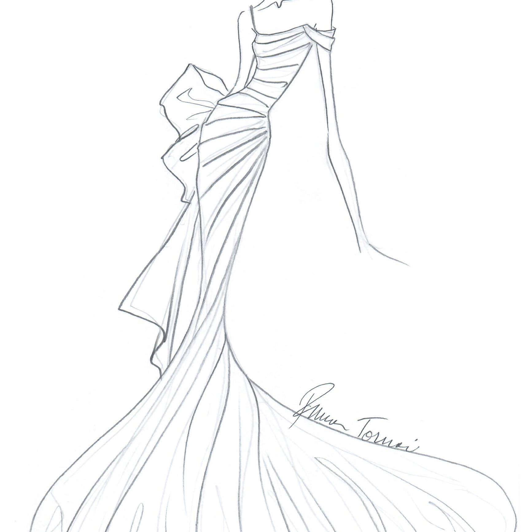 Pnina Tornai Bridal Fashion Week Fall 2020 Sketch