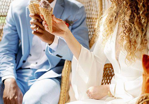 couple enjoying ice cream
