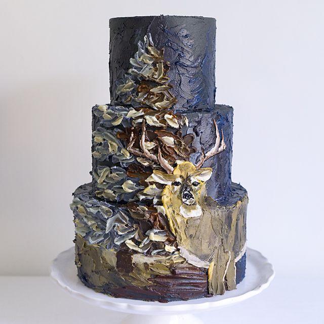 buttercream deer cake