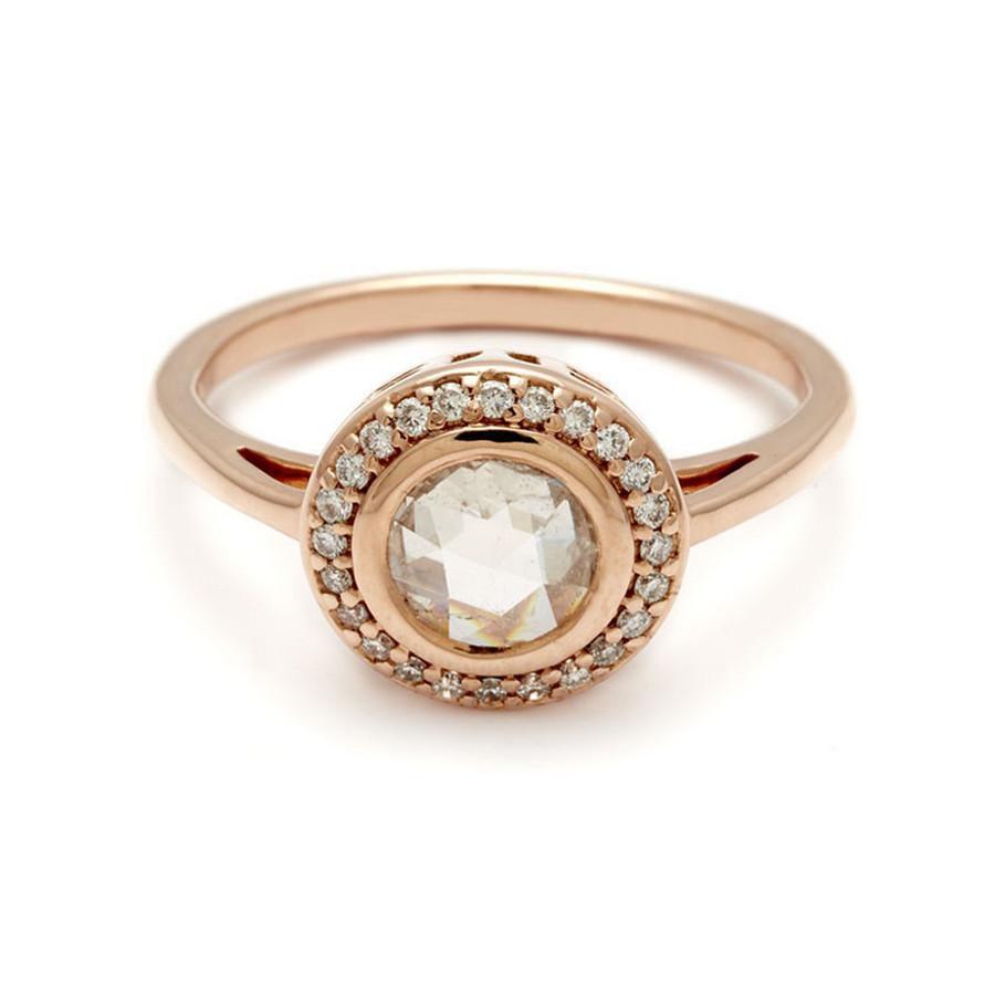 Anna Sheffield Bezel Set Rosette Ring