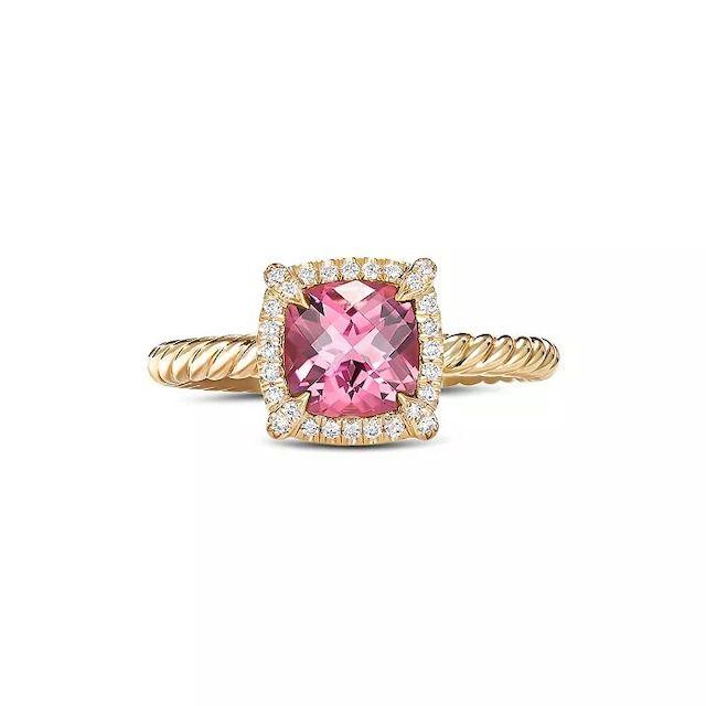 David Yurman Petite Châtelaine Pavé Bezel Ring With Diamonds and Gemstones