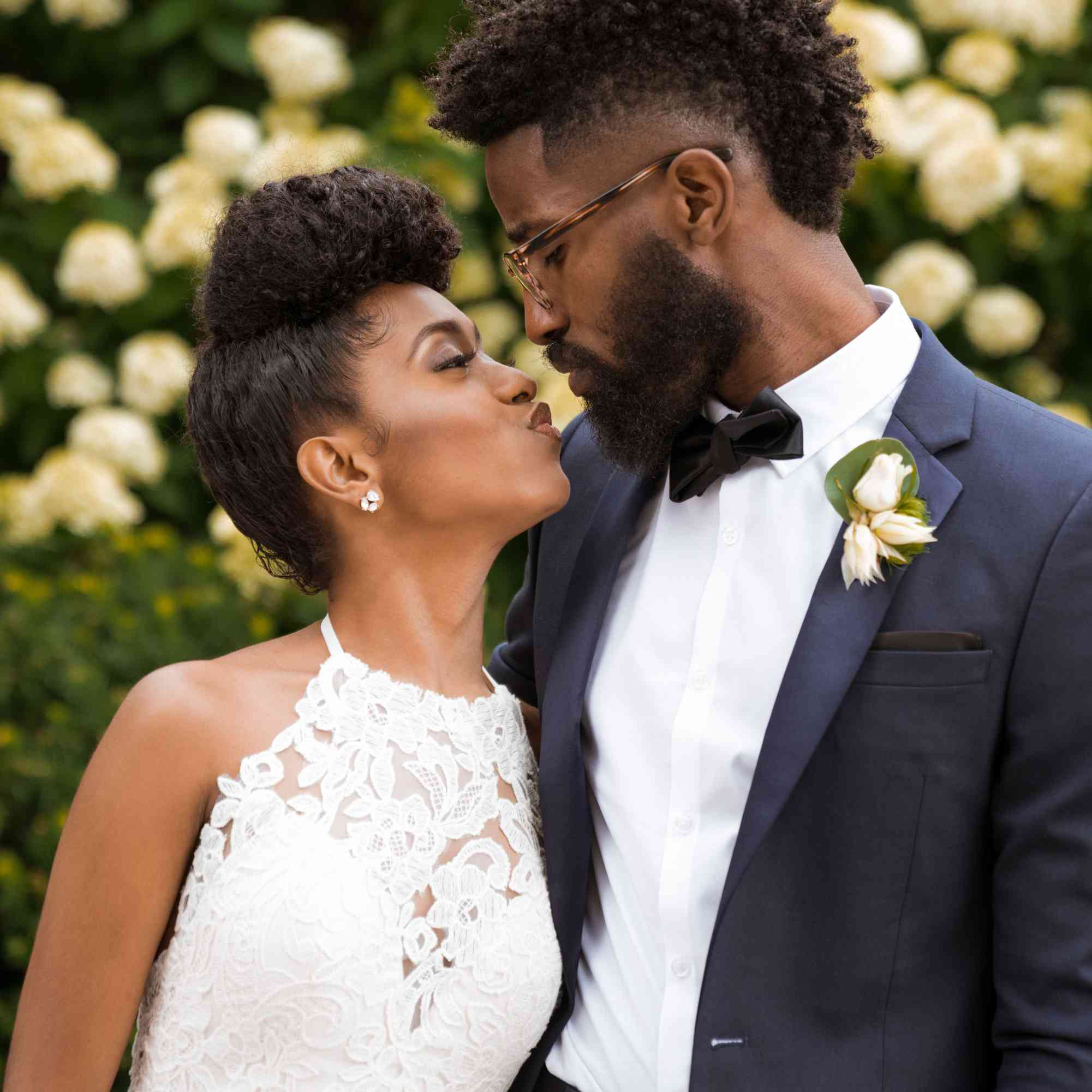16 Stunning Natural Hair Ideas From Real Brides