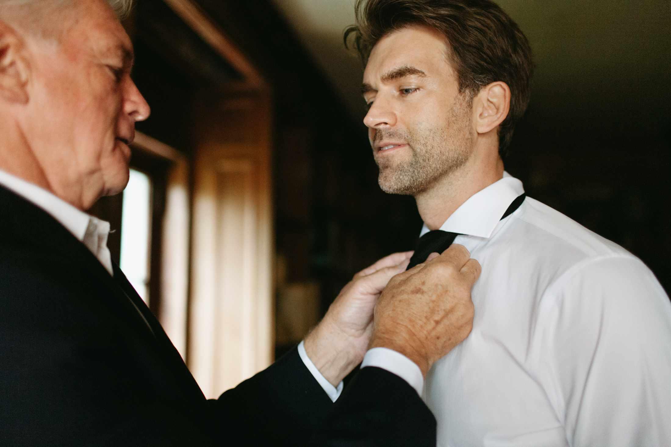 Dad Tying the Tie