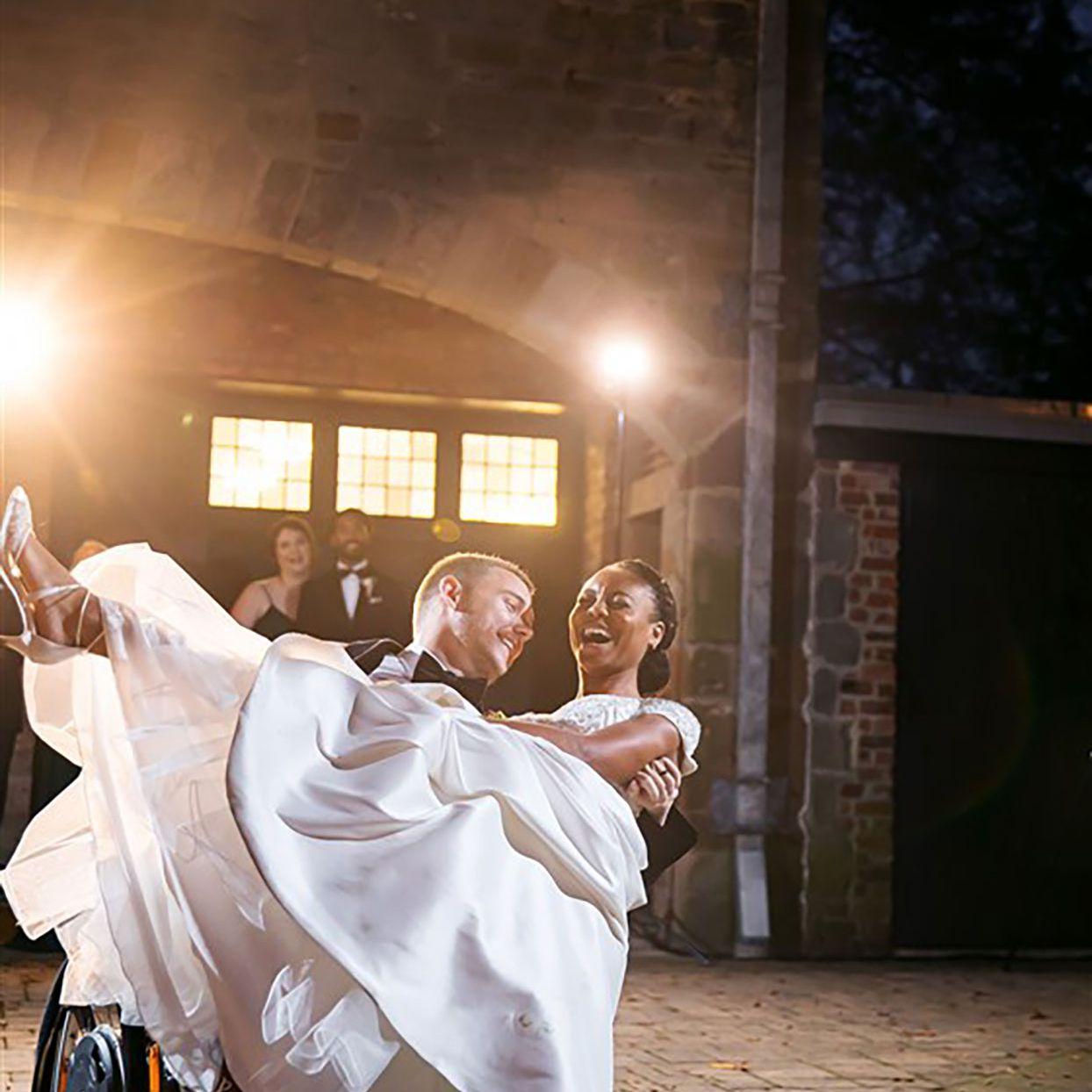Charisma and Cole wedding photo