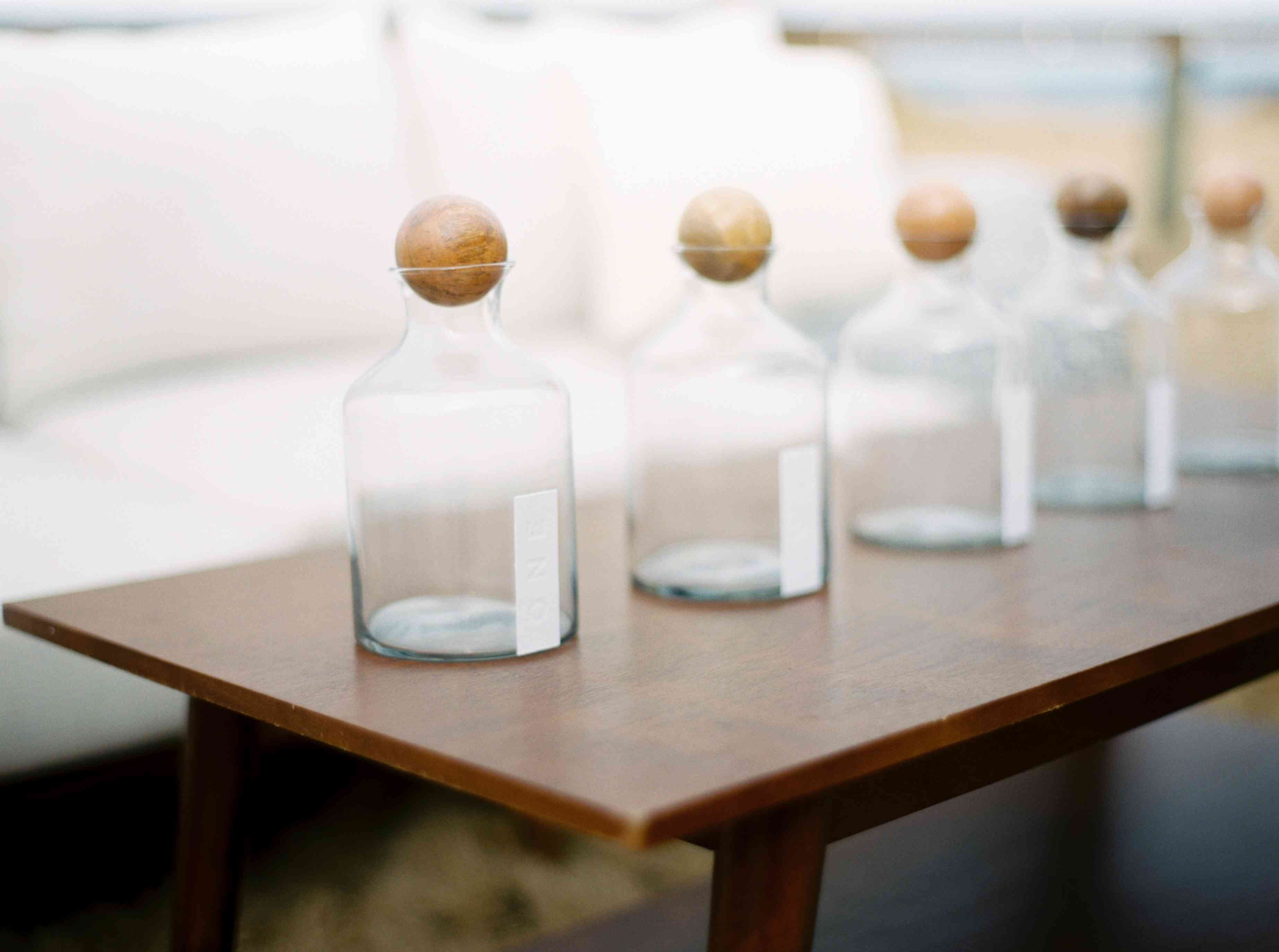 Message in a bottle as wedding guest book