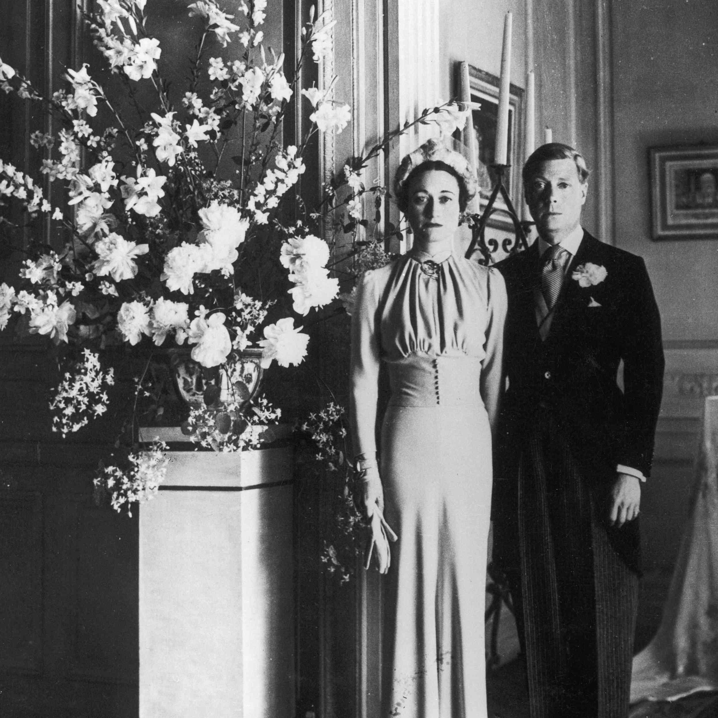Full-length portrait of the Duke of Windsor and Wallis Warfield