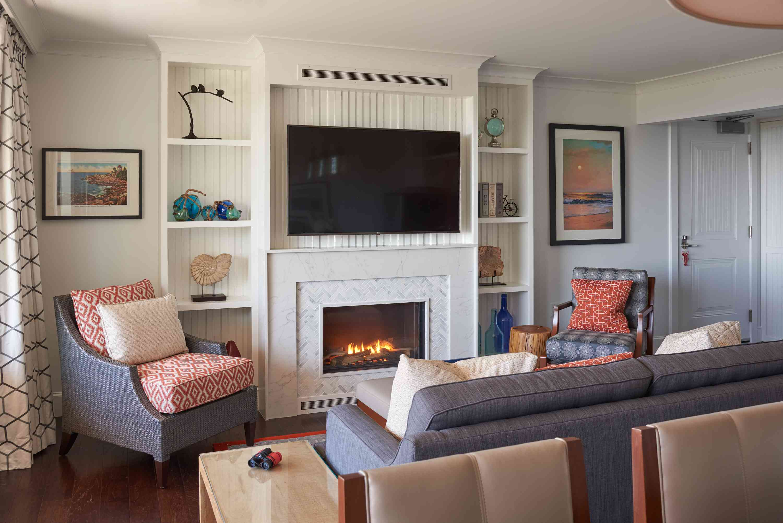 Fireside living room