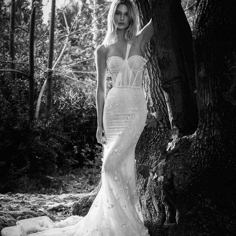 Solange one-shoulder wedding dress