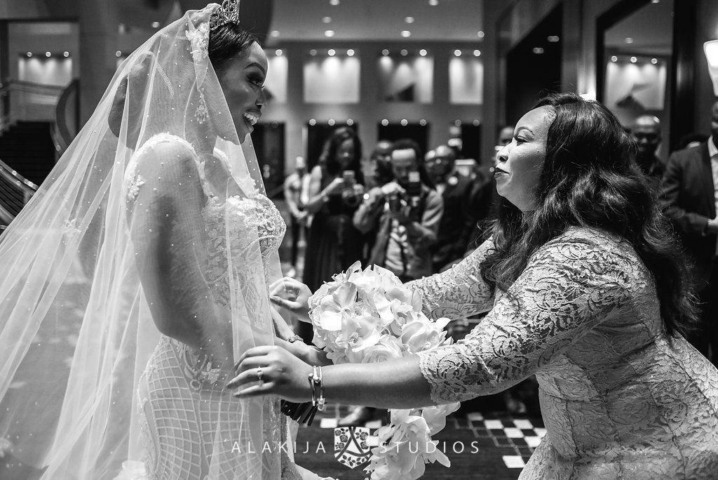 bride and wedding planner