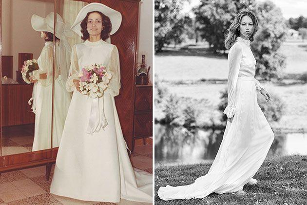 1970s wedding dress made modern