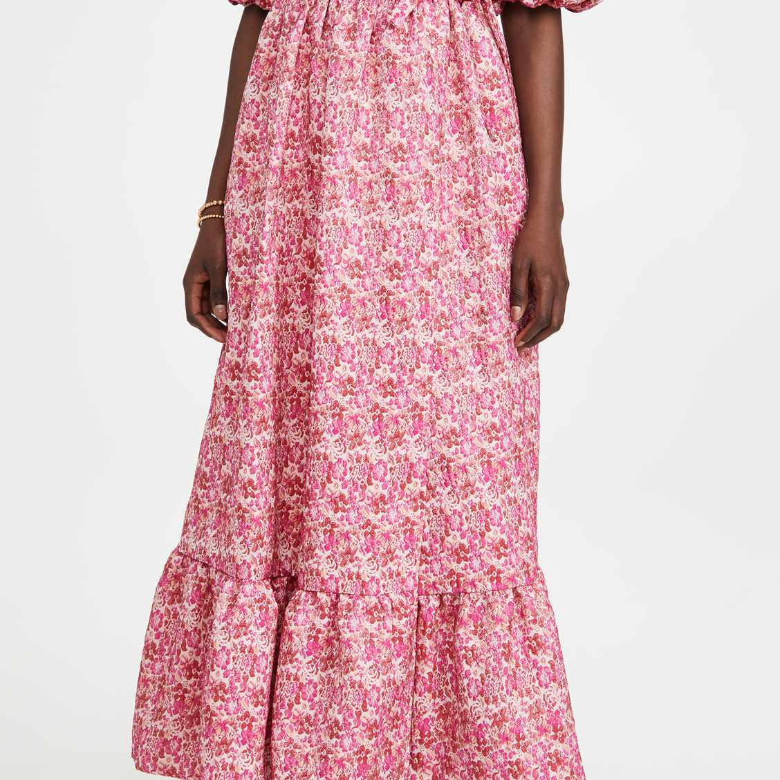 Sister Jane Bud Burst Jacquard Wrap Dress