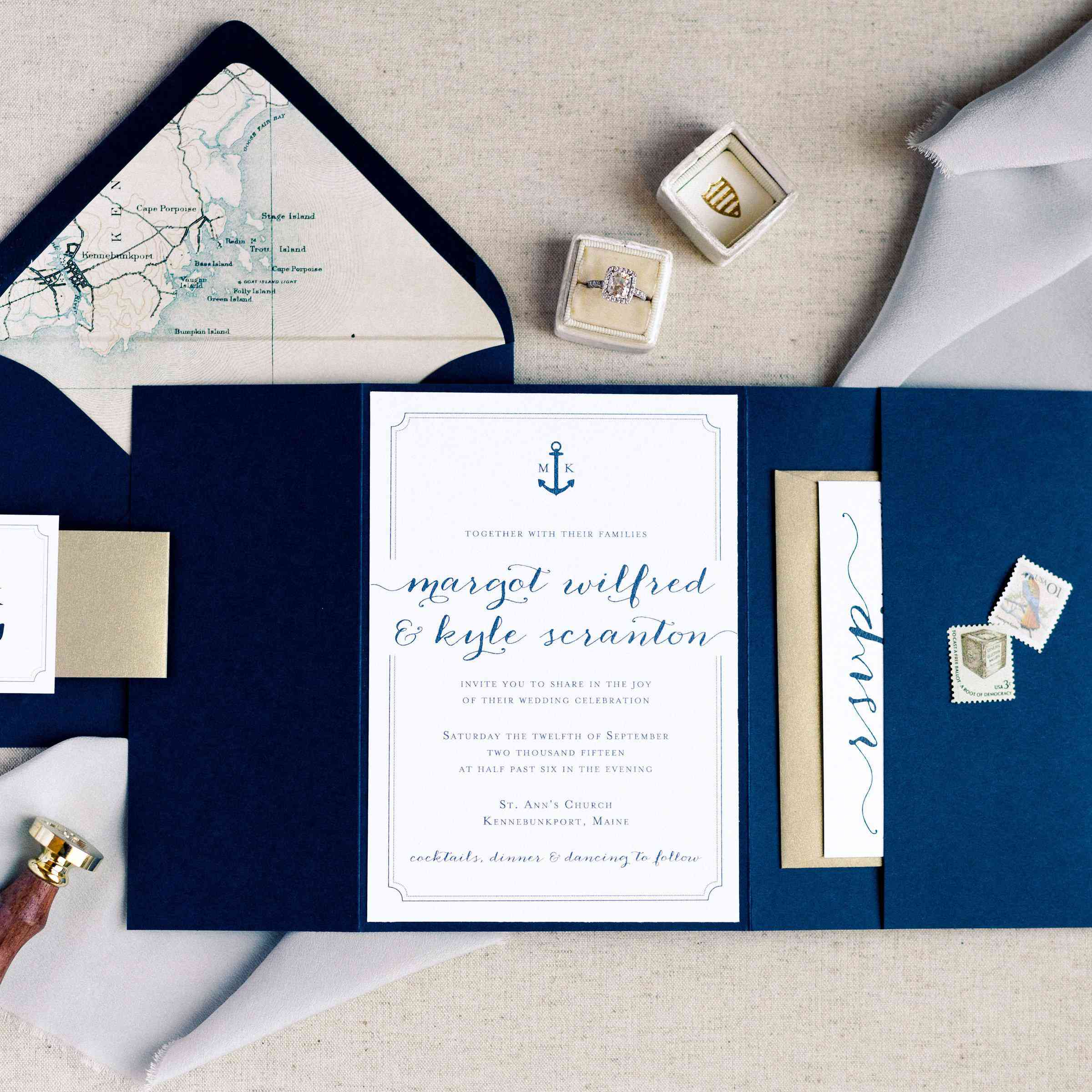 Nautical Wedding Invitations.13 Nautical Wedding Invitations That Are Perfect For Your Seaside