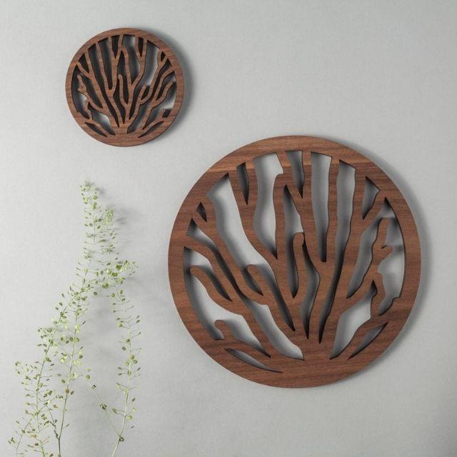 DenversDesigns Coral Design Wooden Coasters