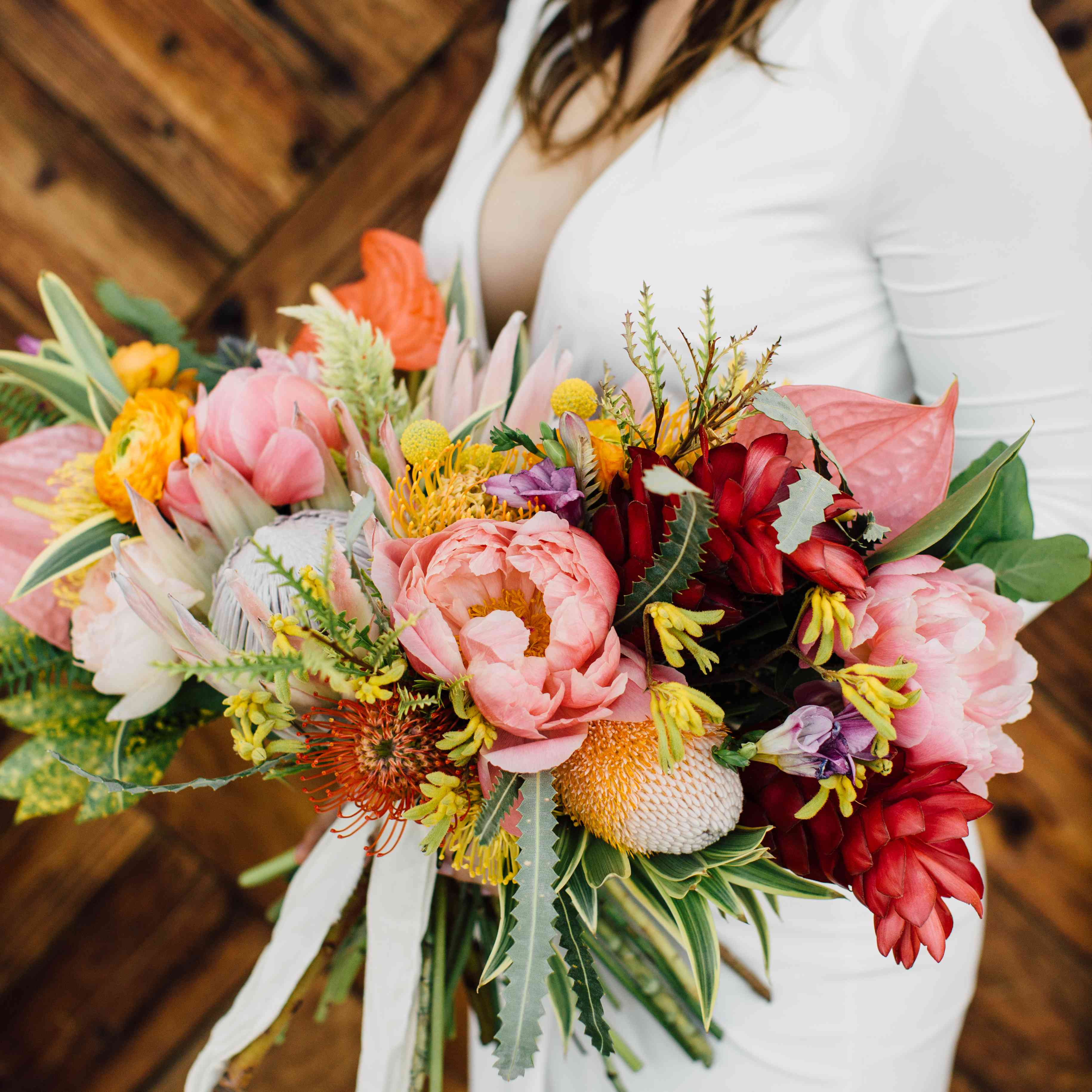 A playful bouquet brimming with all the colors under the sun