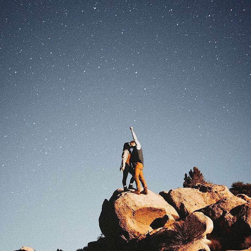 Couple with starry sky backdrop