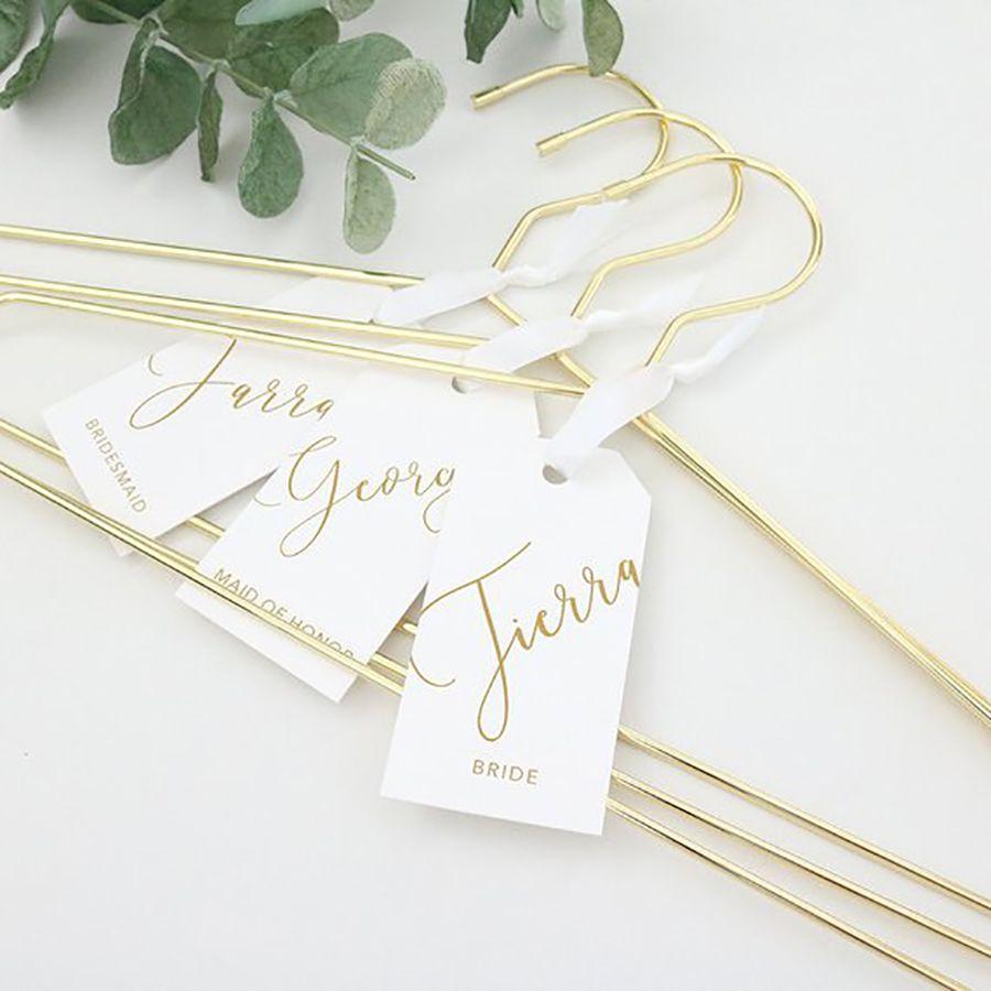 Antique Wedding Hanger Bride Hanger Wedding Gown Hanger Personalized Bridal Hanger Bridesmaid Gift Clothing Hanger