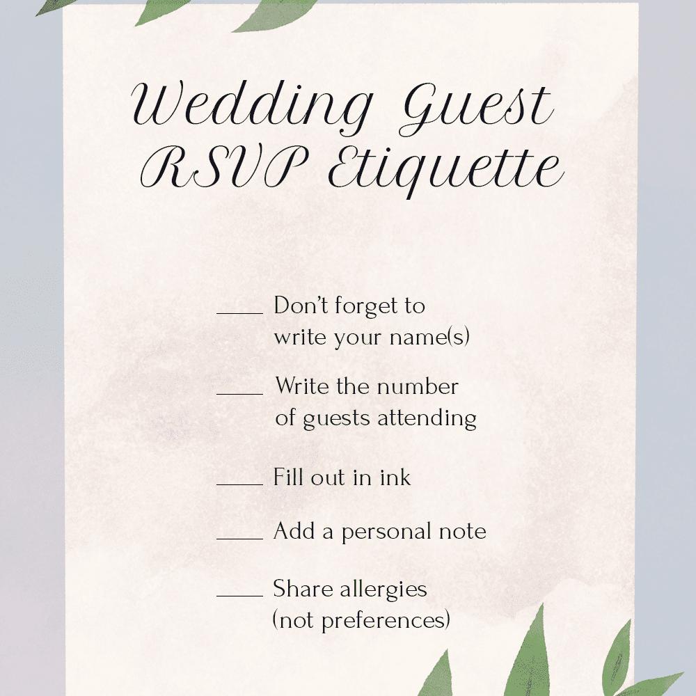 wedding guest rsvp etiquette