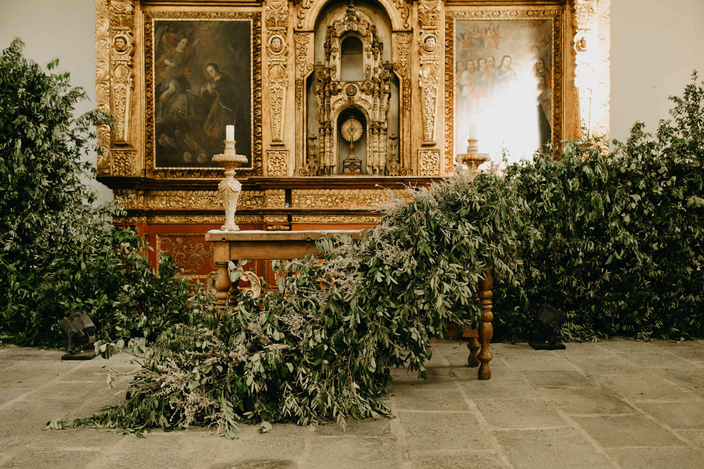 greenery in church