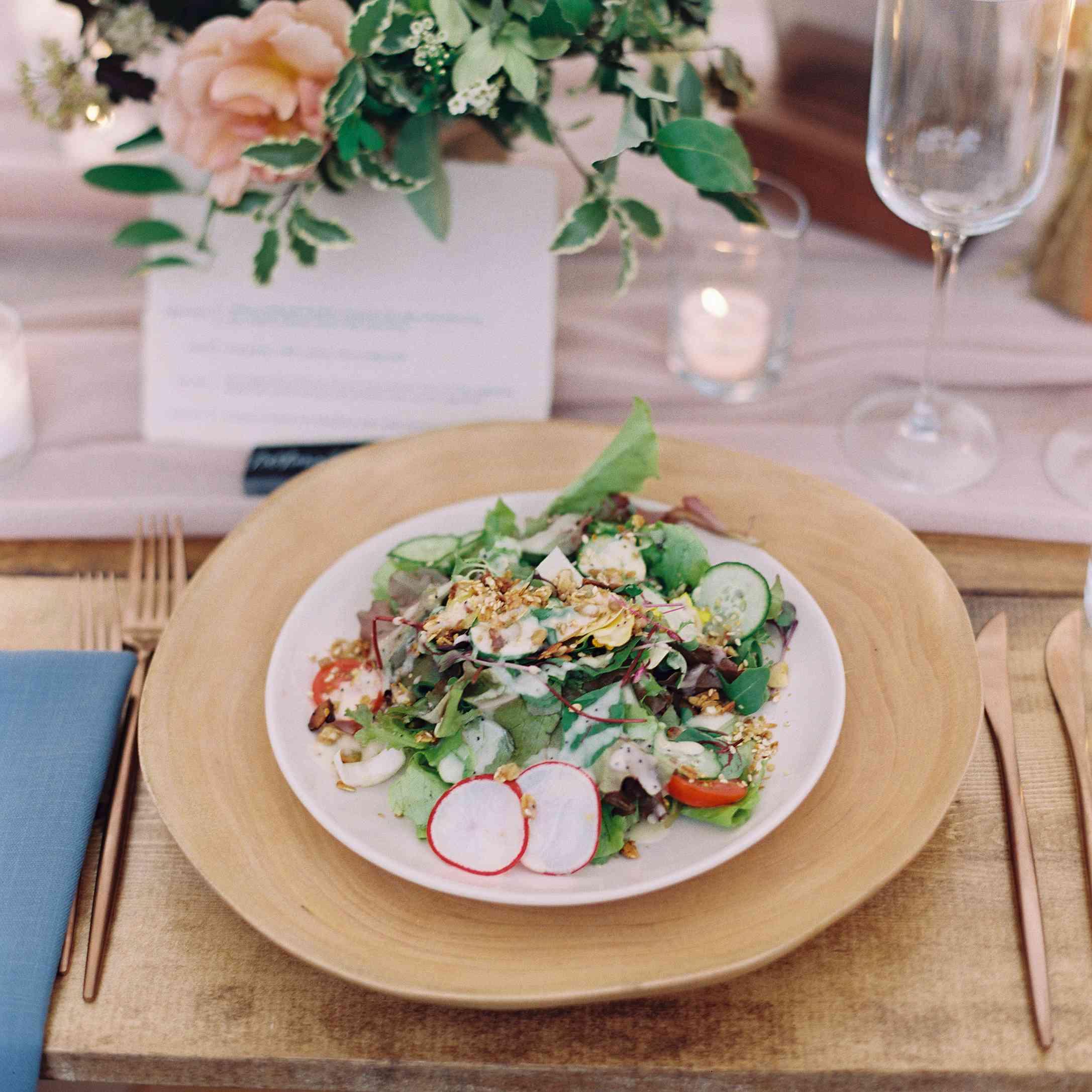 Wedding dinner salad