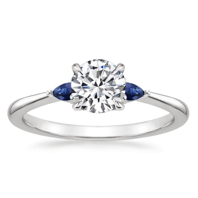 Brilliant Earth Aria Engagement Ring with Sapphire Accents