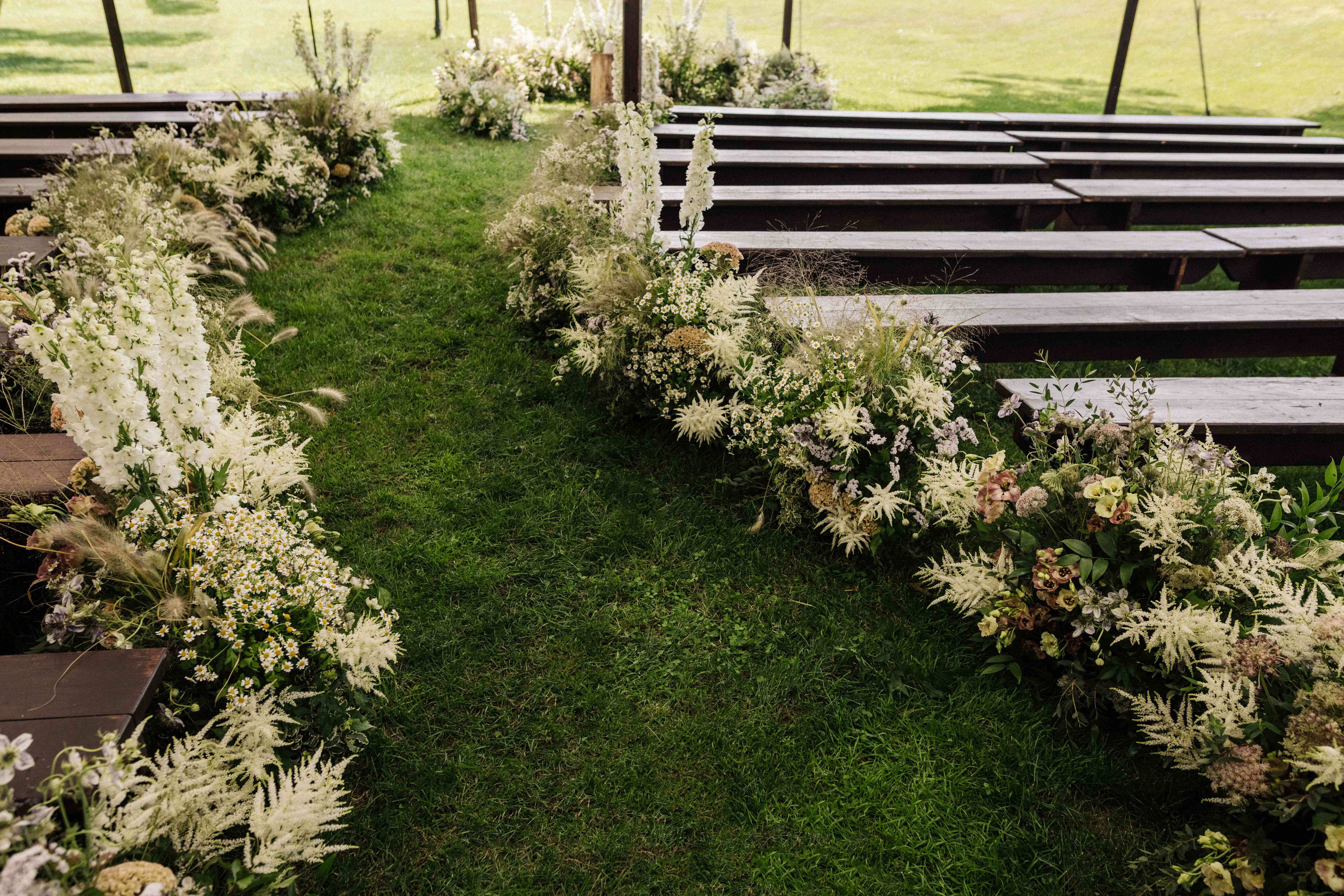 Aisle and altar florals