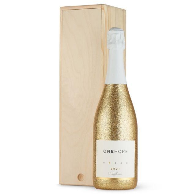 One Hope Wine Single Bottle Wood Gift Box