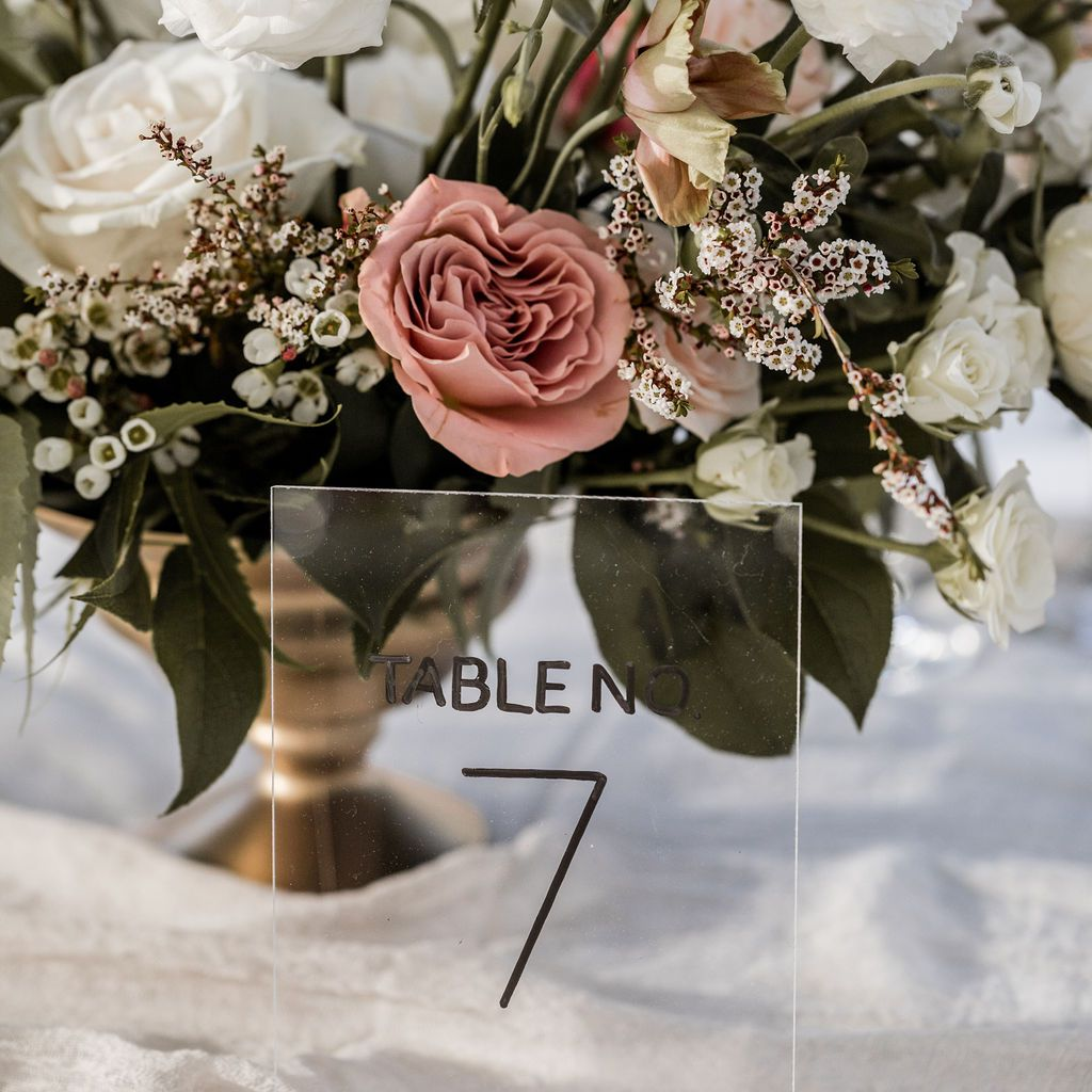 Table number display