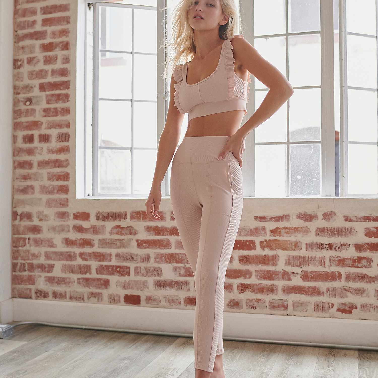 ruffle workout outfit