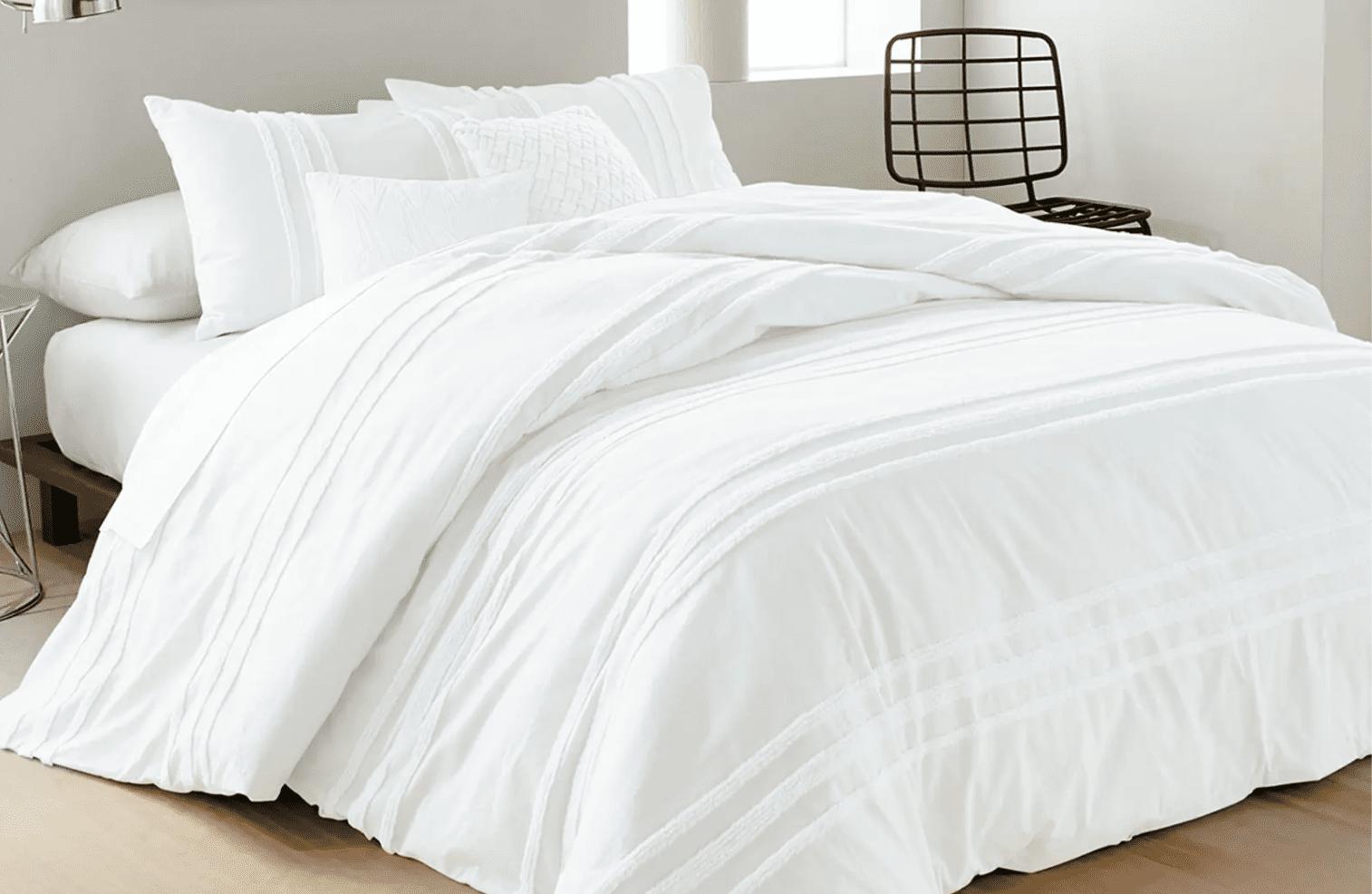 DKNY Chenille Stripe Comforter & Shams Set