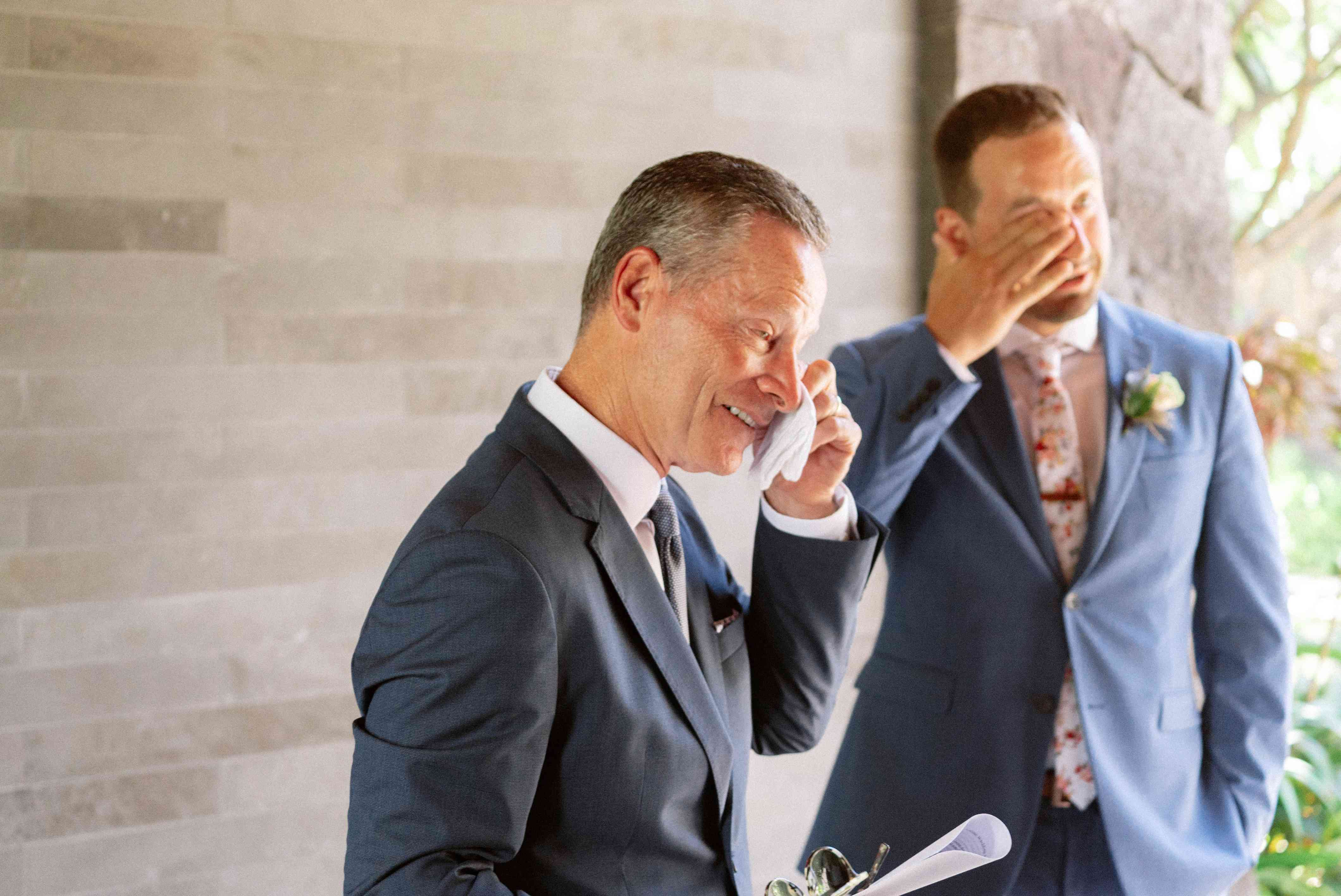 An emotional moment for the groom