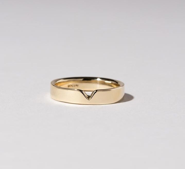 Plain Ring Her Ring Simple Designed Wedding Ring Promise Ring Anniversary Ring Ring For Her Polished Flat Shape Gold Ring