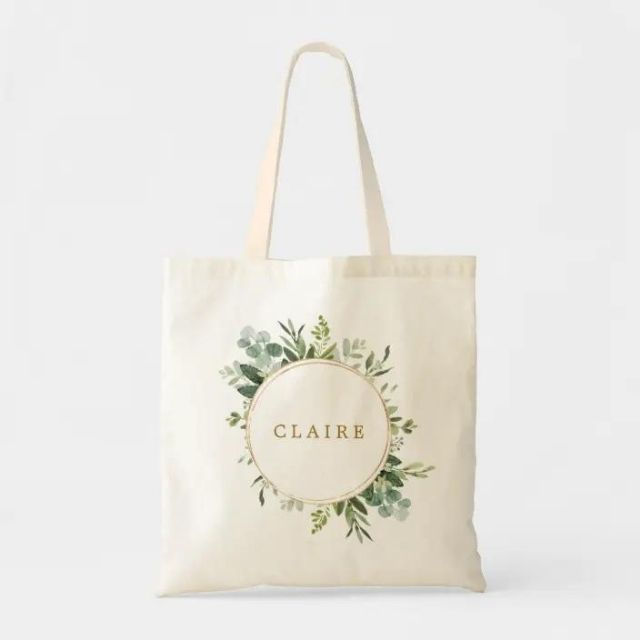 Zazzle Botanical Gold Grenner Personalized Tote Bag