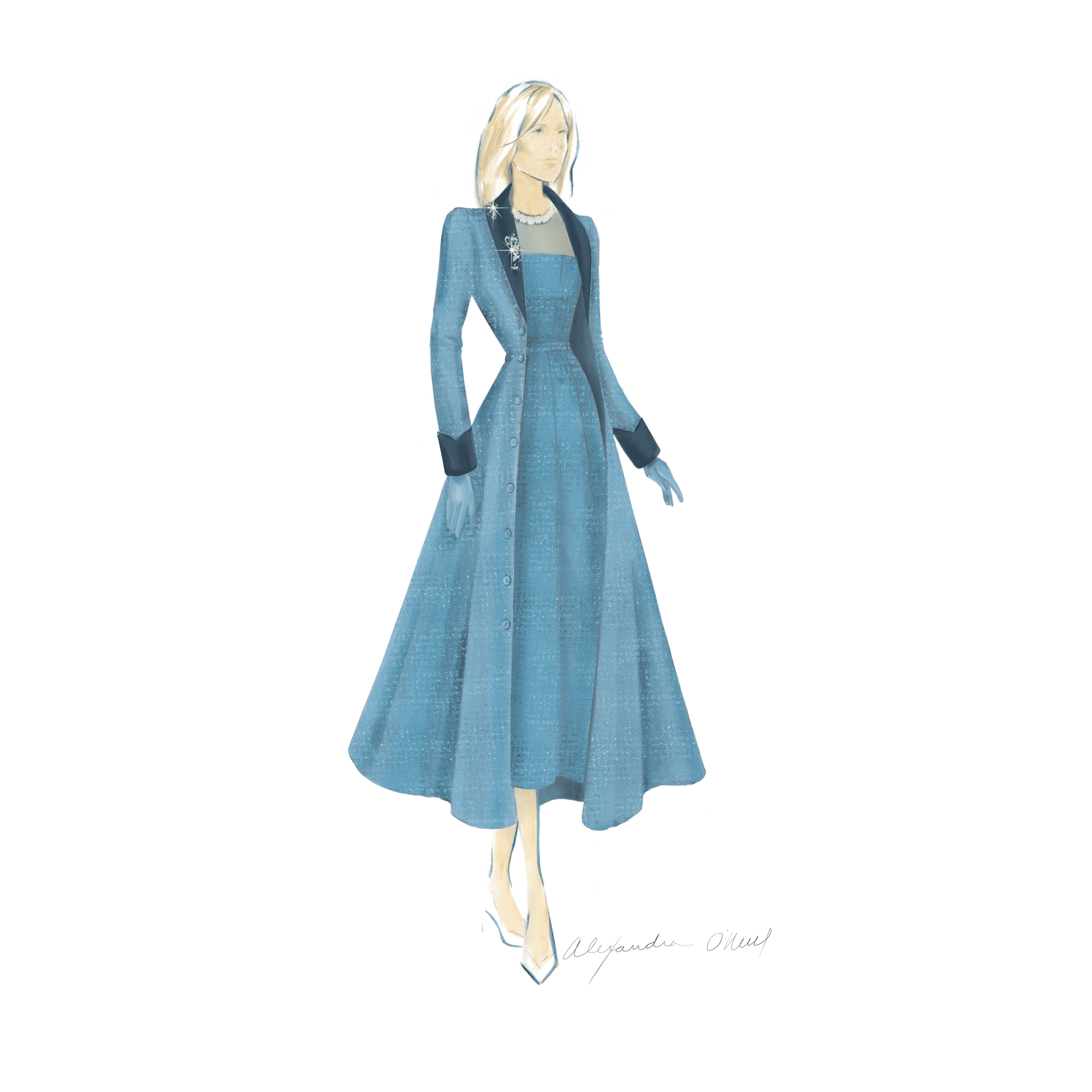 jill biden dress sketch