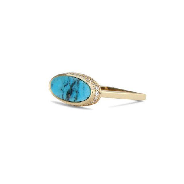 Dru Jewelry Halo Signet Ring