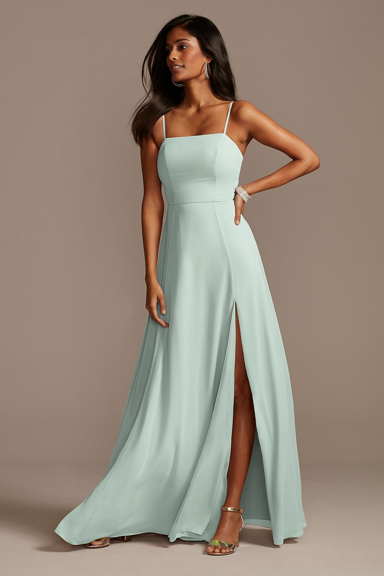 light green bridesmaid dress
