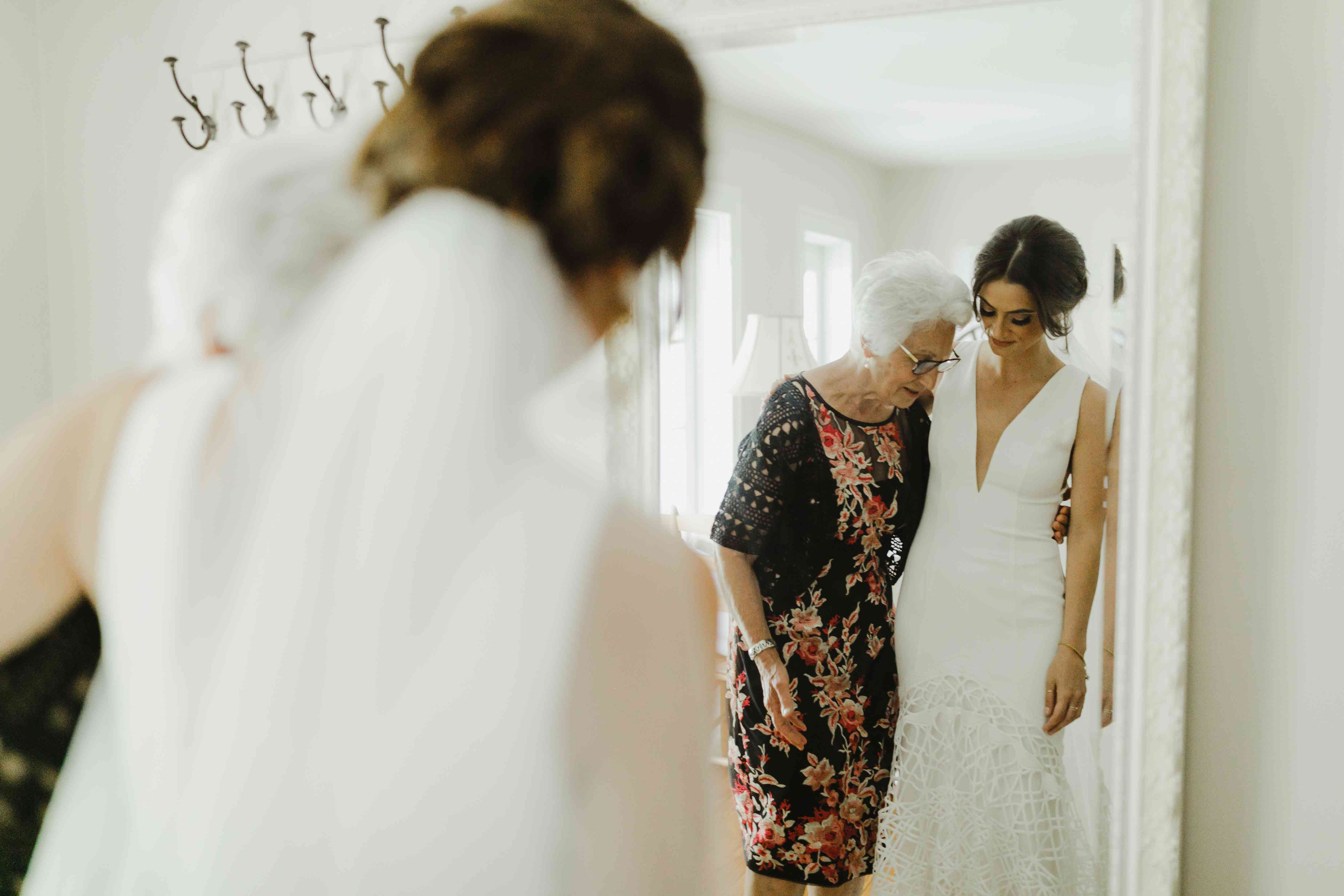 <p>bride with grandmother</p><br><br>