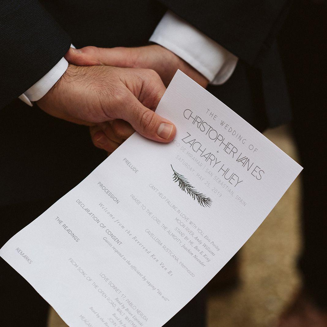 Ceremony program detail