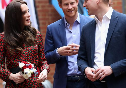 Catherine, Duchess of Cambridge and Prince William and Prince Harry
