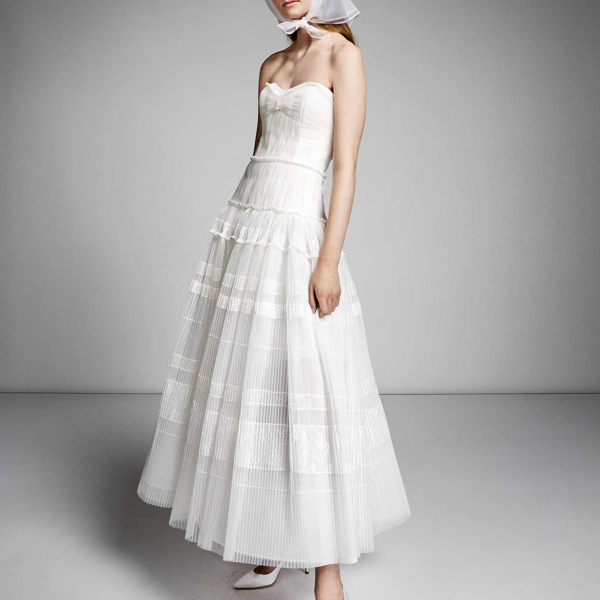 Viktor&Rolf Mariage Lace Applique Tea Length Gown, price upon request