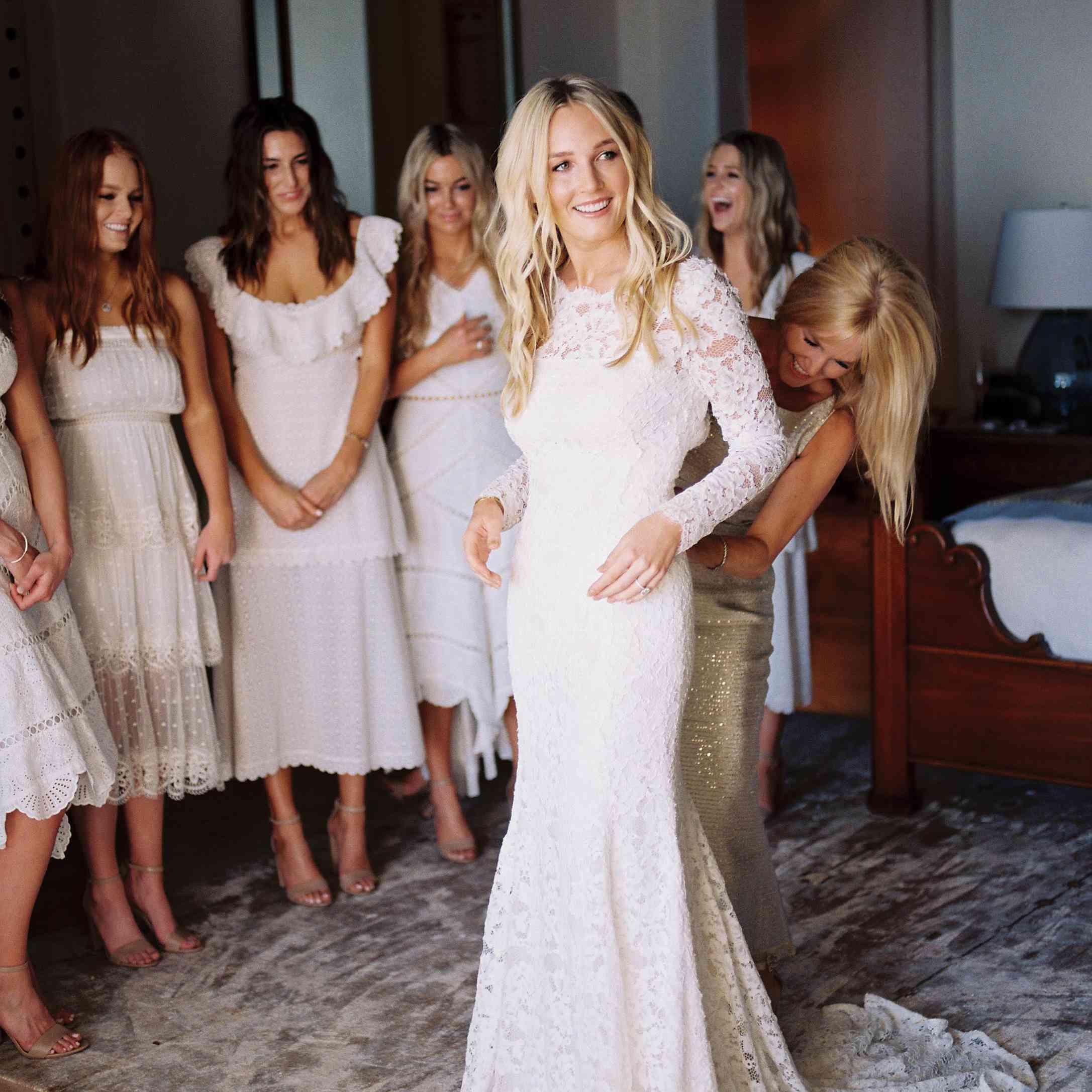 cabo bride in dress