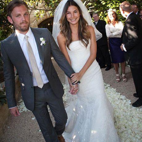 Lily Aldridge marries Caleb Followill in Vera Wang, 2011