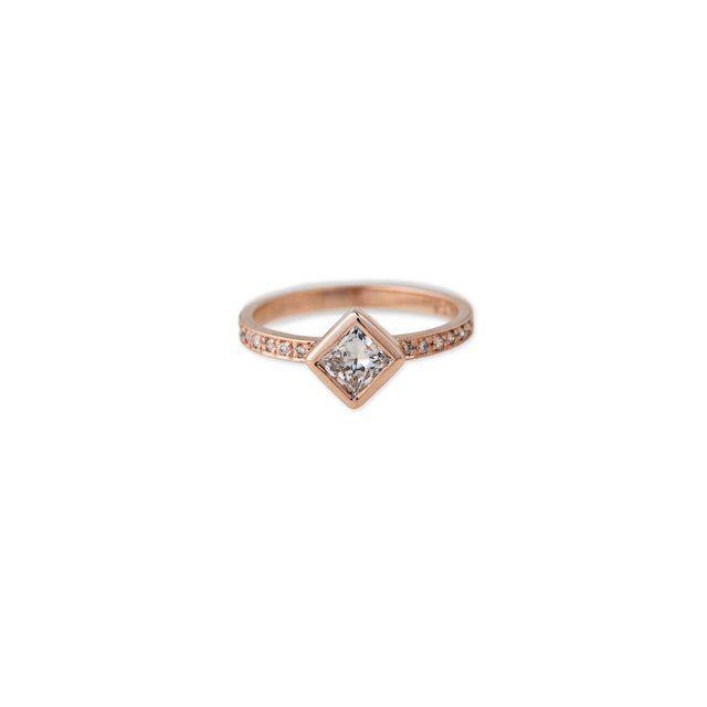 Jacquie Aiche Pave Princess Diamond Ring