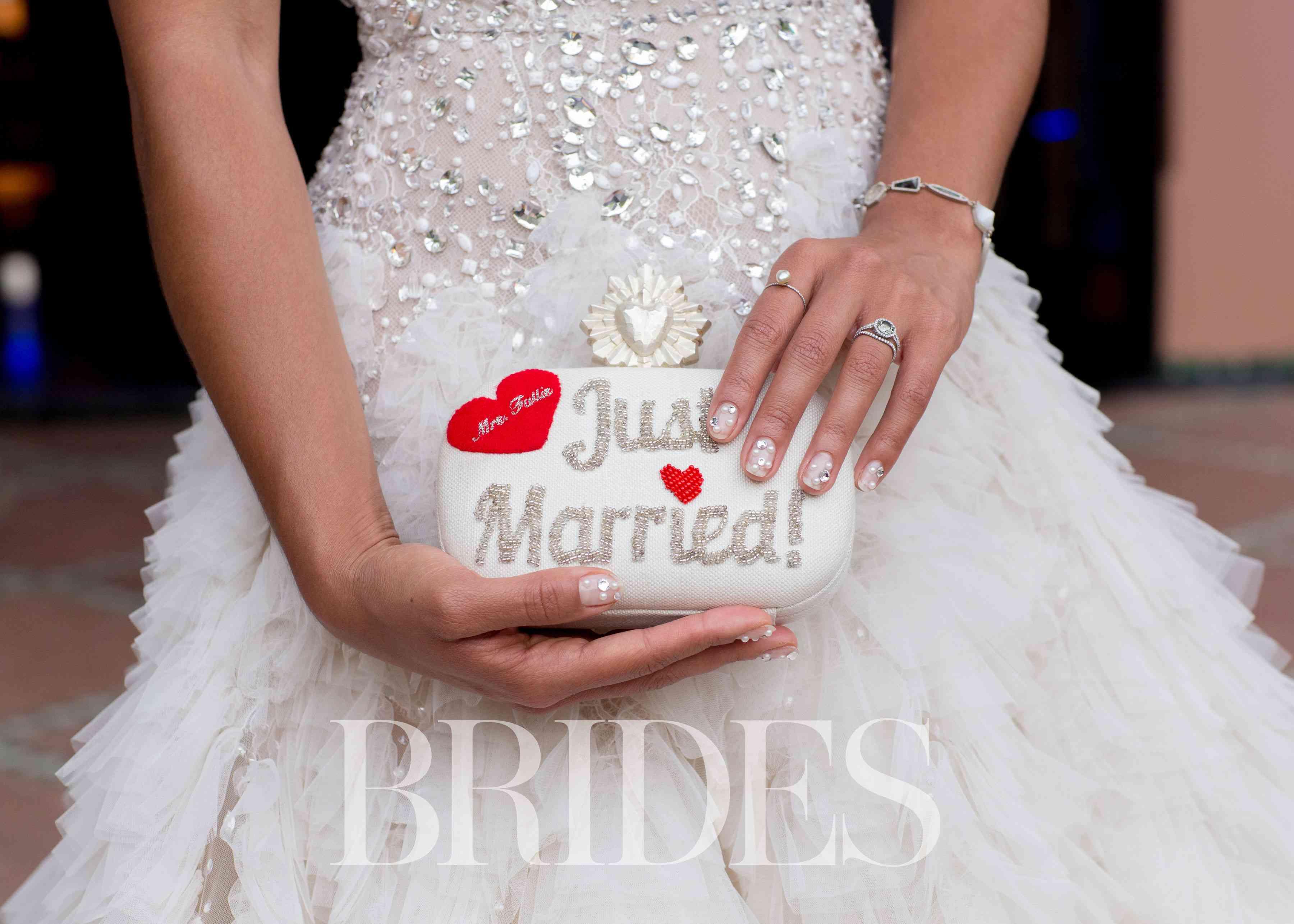 Hannah Bronfman Wedding, Just Married Clutch