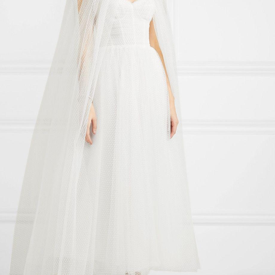 bridal cape ceil boho style wedding cape drop soft veil,braut cape schleir Light ivory long cape veil